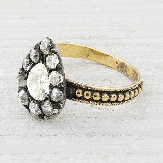 Antique Victorian Diamond Engagement Ring. $5,000.00, via Etsy.