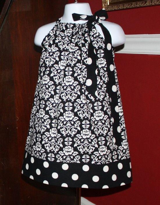 cute black and white baby girl dress