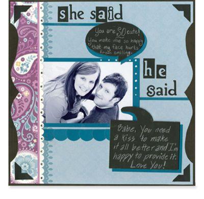 She Said, He Said #scrapbook