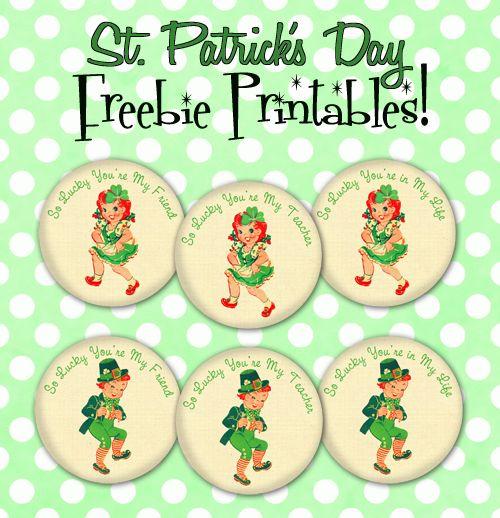 Free St. Patrick's Printables.