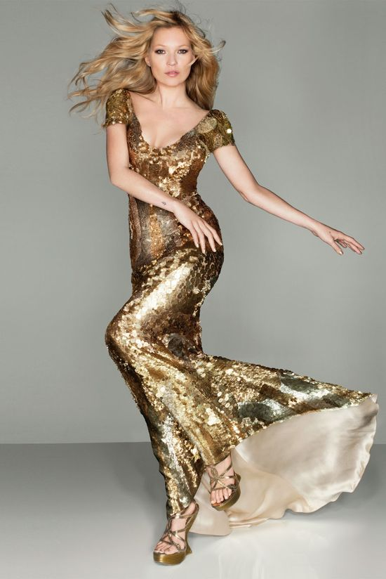 Kate moss in Gold Of course!