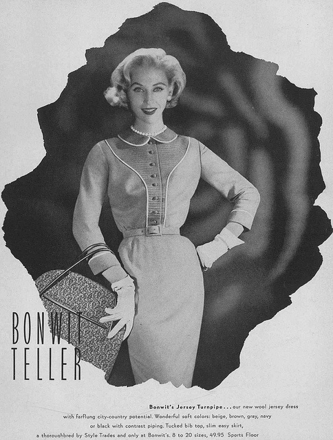 Such charming piping. #vintage #fashion #1950s #dress