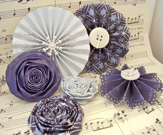 Handmade Paper Flowers for Christmas Medallion Flowers