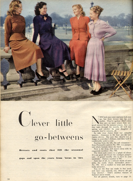 Clever little go-betweens for those summer into fall days. #vintage #1940s #dresses #fashion