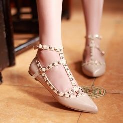 Flats studded shoes lovely new style girls shoes Z-FF-F102-Lovelys...