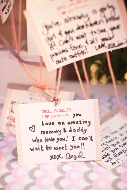 Message to baby display baby shower ideas