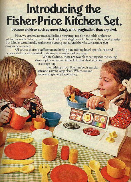 Introducing the Fisher-Price Kitchen Set. #vintage #1970s #1980s #toys #nostalgia