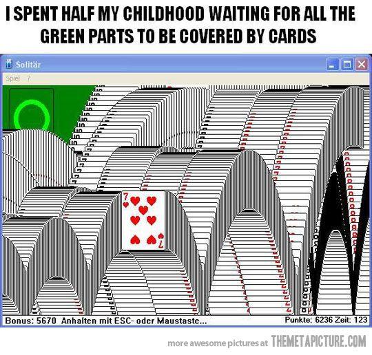 How I spent my childhood…