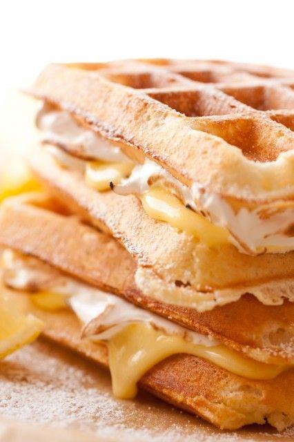 Lemon Meringue Pie Stuffed Waffles