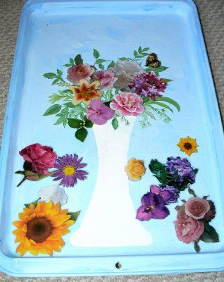 Magnetic Flower Arranging -  could use concept for other things, too, nice post-project activity