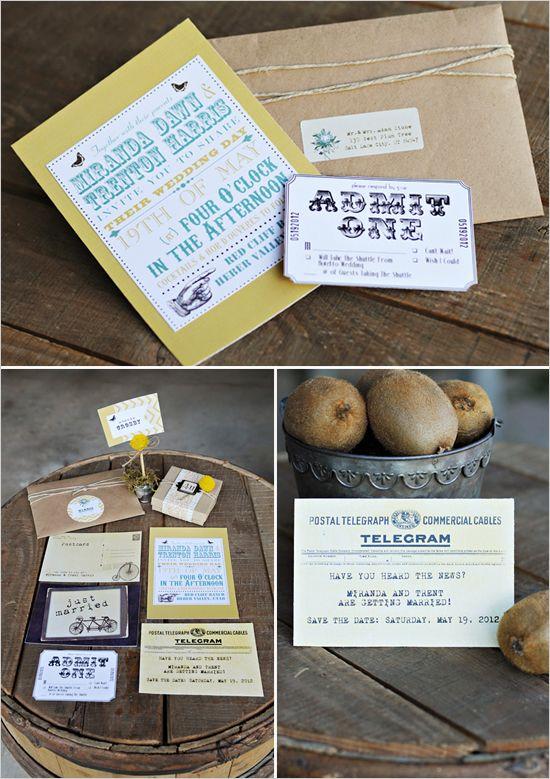 vintage inspired wedding invites