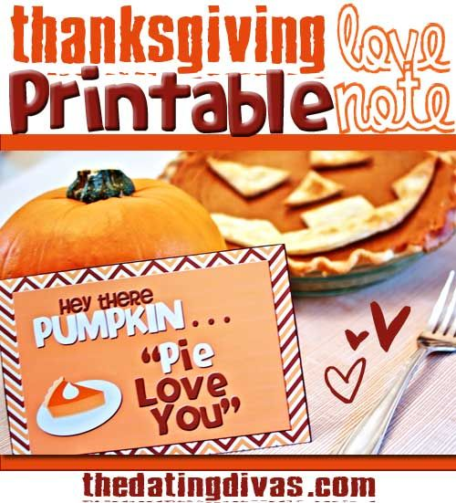 Show your man how grateful you are for him this Thanksgiving with this darling printable.  Just grab a pumpkin pie to go with- and you're done!