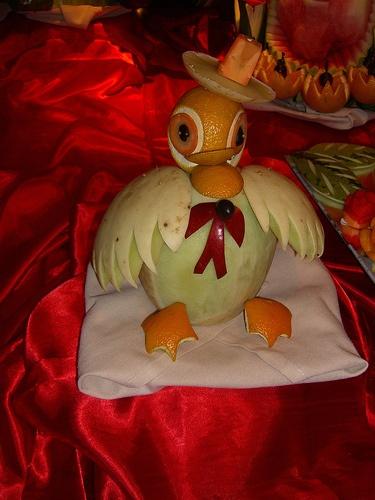 Weird bird food art