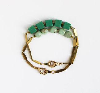 // Beaded Brass Bracelets