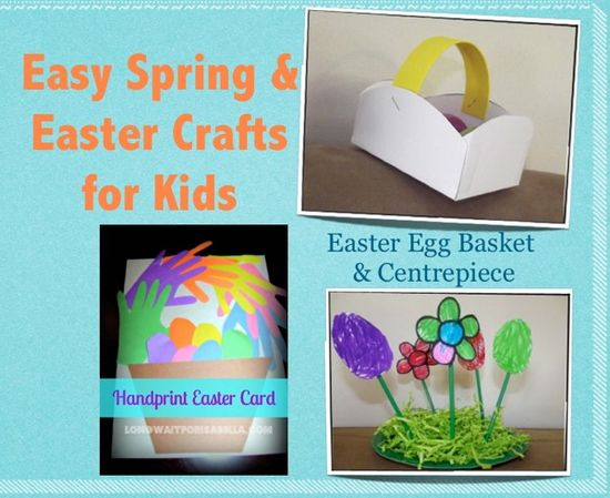 Easy Spring and Easter Crafts for Kids