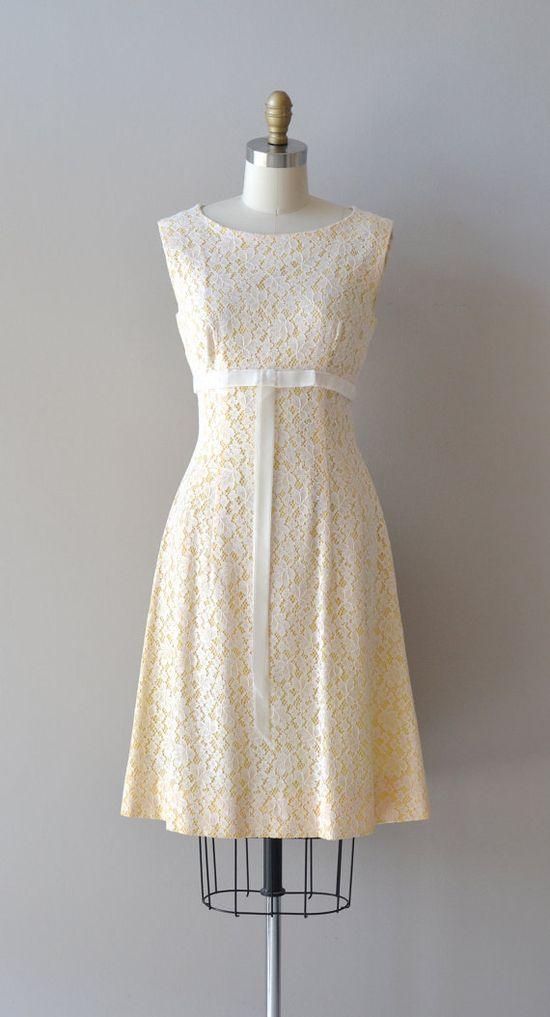 vintage 1960s dress / lace 60s dress / Corinthia by DearGolden, $68.00