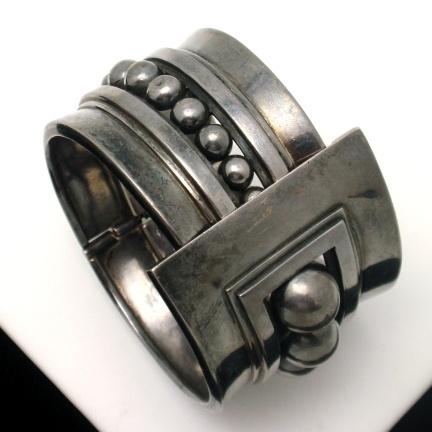 Margot de Taxco sterling silver cuff bracelet