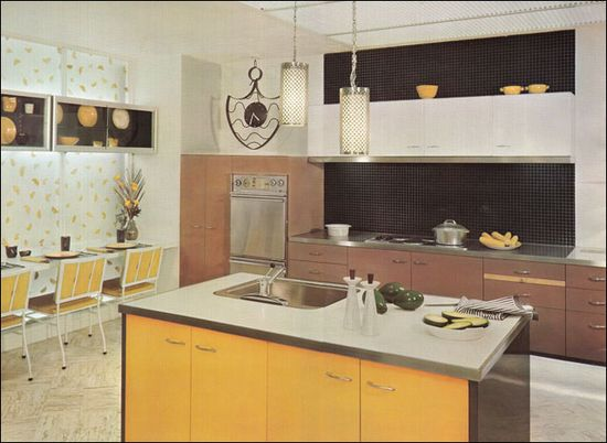 Ultra Modern Mid Century Kitchen by American Vintage Home, via Flickr