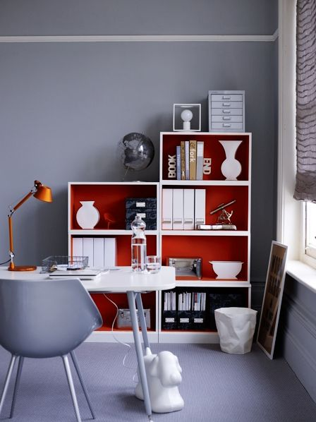 pink & gray office