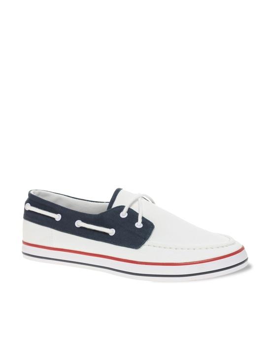 Canvas Tricolour Boat Shoes