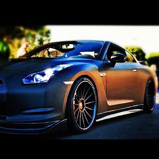 Sleek Matte Black Nissan GTR