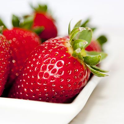 Superfruits: Strawberries are bursting with vitamin C; just a cup full and you've already reached your recommended daily intake.