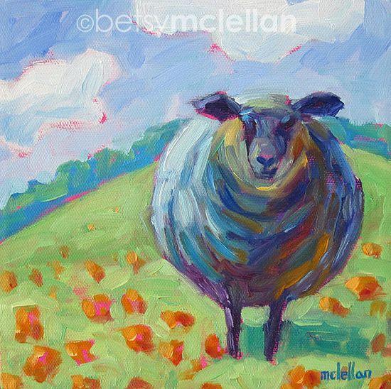 Black Sheep Original Painting by betsymclellanstudio on Etsy