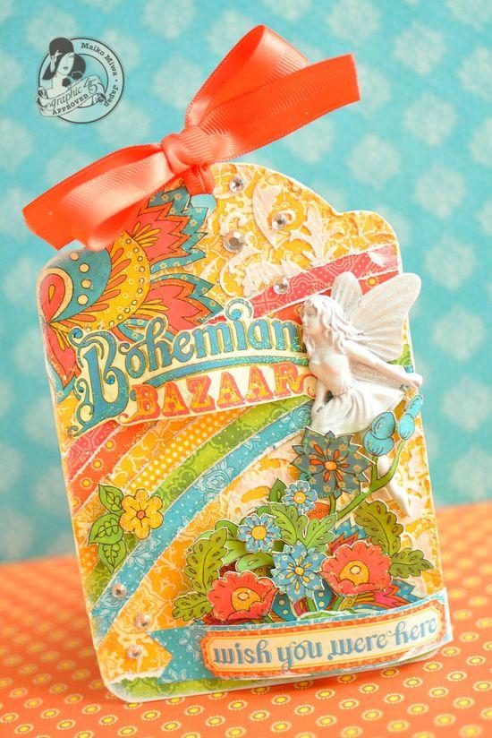 Graphic 45 - Bohemian Bazaar tag card - Scrapbook.com