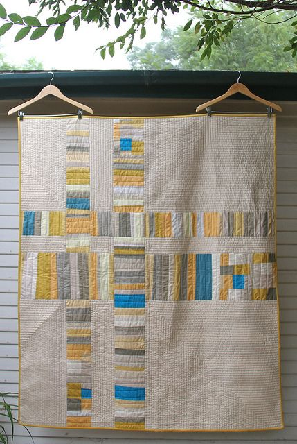 beautiful quilt & quilting! I wish I could let go & create quilts like this!