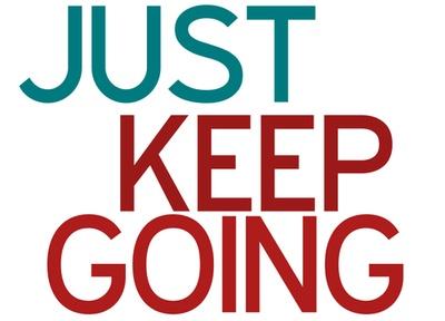 just keep going #motivation #weightloss #fitness
