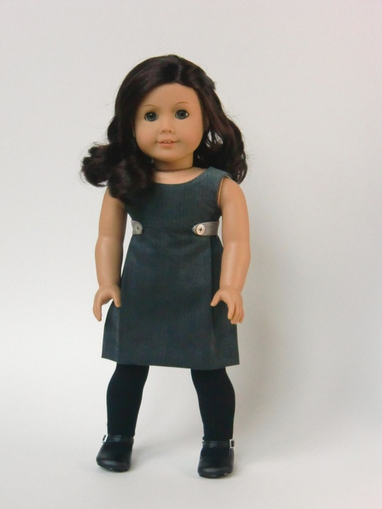 "Urban Chic -- a new dress for 18"" dolls from Melody Valerie Couture. $105.00, via Etsy."