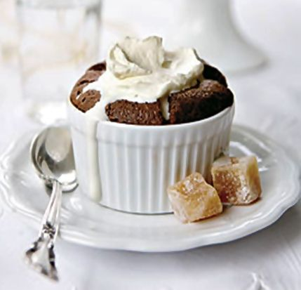 Dark Chocolate Souffle….a classic and elegant dessert for entertaining.
