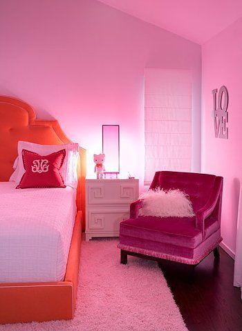 pink, bedroom
