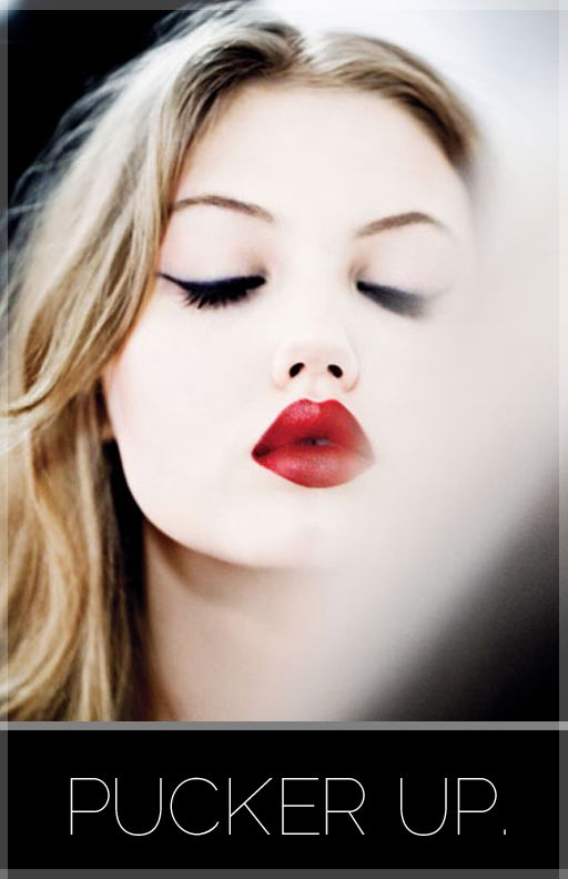 red red red lips.