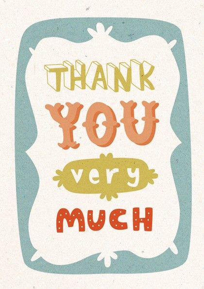 Thank you very much (by Kate Hindley)