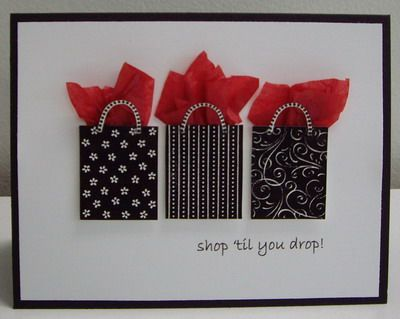 Gift bags on a card.
