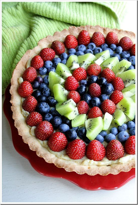 Super Simple Fresh Fruit Tart....Beautiful