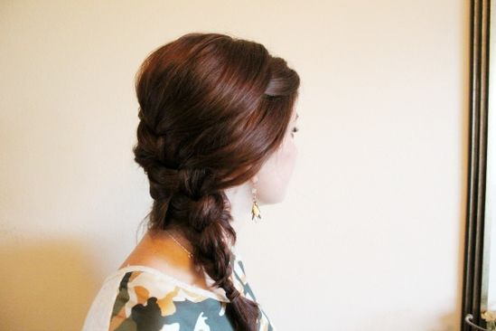 Simple side French braid via ma nouvelle mode