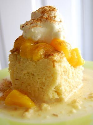 Tres Leches Cake with Mangos