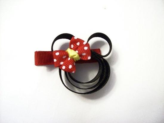 minnie hair ribbon on Etsy