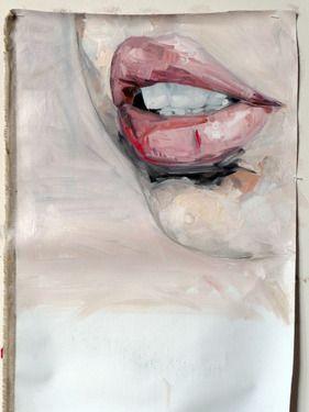 """Saatchi Online Artist Julien Legars; Painting, """"flesh wound on mouth"""" #art"""