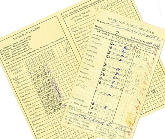 Vintage School Report Card