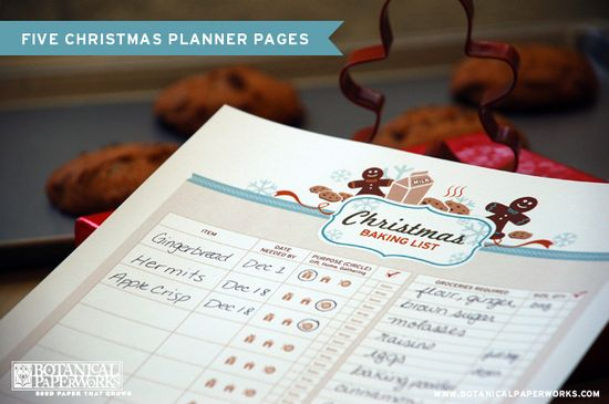 5 Free Printable Christmas Planner Pages