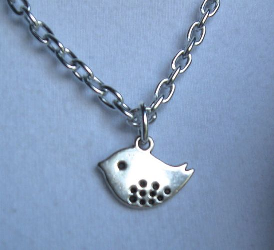 $17.00.  SILVER BIRDIE NECKLACE by MimiJewels on Etsy.  www.etsy.com/...