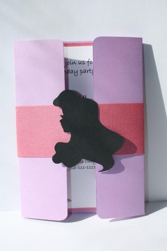 Silhouette Disney party invitation