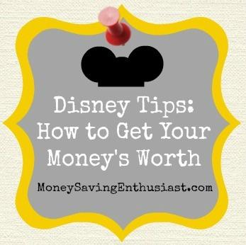 Get These Disney Tips: How to Get Your Money's Worth. . .Plan Your Options #disney www.MoneySavingen...
