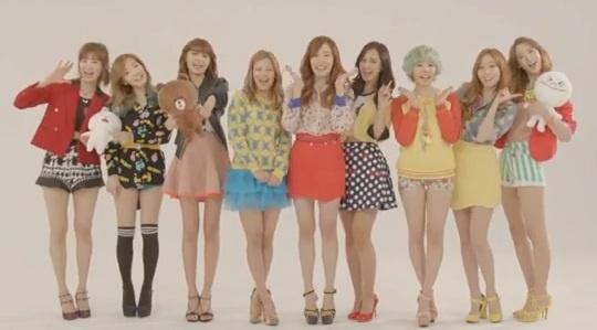 Girls Generation releases new CF for LINE ~ Latest K-pop News - K-pop News