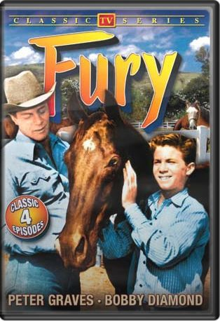 """Fury  is an American Western television series that aired on NBC from 1955–1960, starring Peter Graves as Jim Newton ( who operates the Broken Wheel Ranch in California), Bobby Diamond as Jim's adopted son, Joey Clark Newton, and William Fawcett as ranch hand Pete Wilkey. Roger Mobley co-starred in the three last seasons as Homer """"Packy"""" Lambert, a friend of Joey's."""