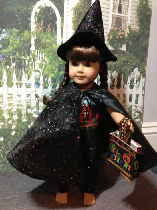 American Girl Doll Clothes  Halloween Witch Handmade 5 by Sweetlittlethingsbys, $28.00