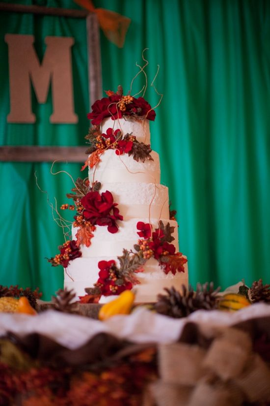 Rustic fall themed cake